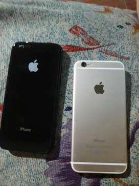 Vendo o cambio iphone 6 de 16 GB libre de iclod sin huella bateria al 100%