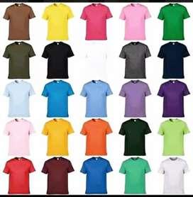 Camisetas Unicolor en Algodon 180 gr