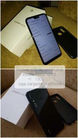 Huawei p20 Lite semi nuevo en caja con accesorios