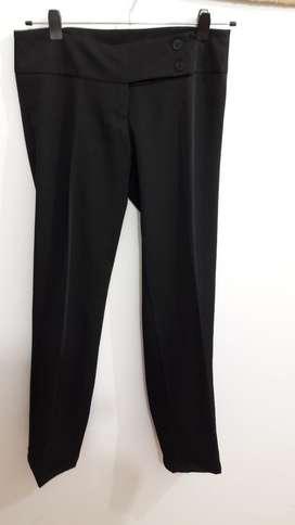 Pantalón Negro Recto de Vestir para Dama