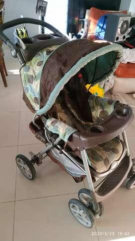 Combo coche Graco + silla para auto usado en excelente estado !!!