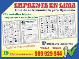 Cartilla para Gymnasio - Imprenta en Lima