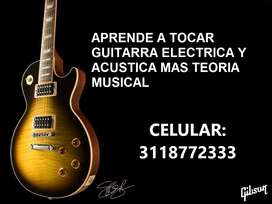 CLASES DE GUITARRA ELECTRICA Y TEORIA MUSICAL