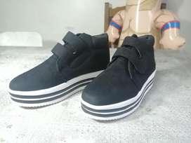 Zapatos de Plataforma para meter Negros