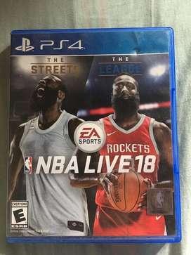 Vendo - NBA LIVE 18 - PS4