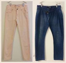 2 Jeans Niña Talle 14/16 . Materia . Petit Atelier x 850