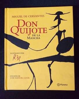El Quijote de la Mancha - Ilustrado por Rep. Edición de lujo, tapa dura. Edición de Juan Manuel Lucía, editorial Planeta