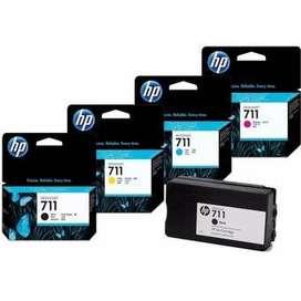 Cartuchos Hewlett Packard 711 colores