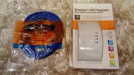 Oferta vendo Nuevo  repetidor inalambrico wifi + cable 5m cat5e