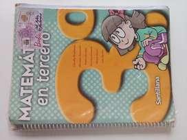 Matemática en tercero. Editorial Santillana