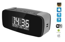 Alarm clock with FULL HD camera with IR LED + WiFi + P2P + Air monitoring  (Pack of 2)
