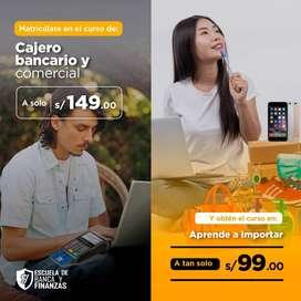 CAJERO BANCARIO Y COMERCIAL + GESTIÓN DE IMPORTACIÓN