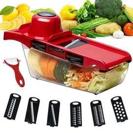 Cortador De Verduras Mandoline Slicer 6 In 1 Ayudante De Cocina