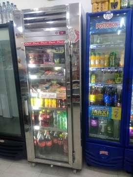 Nevera refrigerador vertical panorámica...
