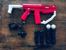 Kit move ps3 (cámara  2 mandos  2 navegadores)   Sharp Shooter