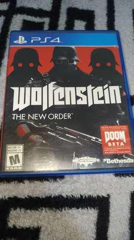 Wolfenstein the New ORDER usado para ps4