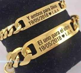 """manillas, pulseras collares  personalizadas  """"marcado laser """""""