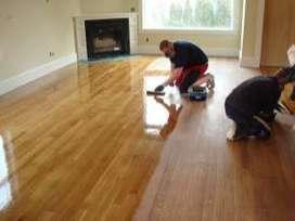 pulida y lacada de pisos de madera