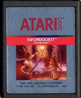 Juego Original Atari 2600 Swordquest: Fireworld Cx2657 100 funcionando