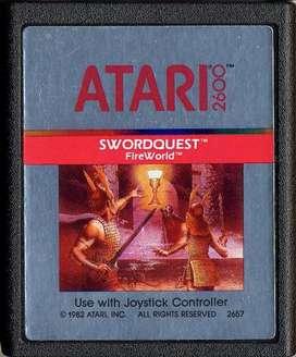 Juego Original Atari 2600 Swordquest: Fireworld Cx2657 100 funcionando