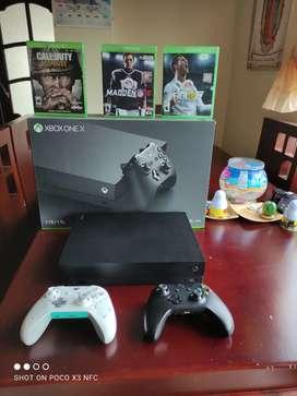 Vendo un Xbox One X la consola más poderosa del mundo tiene un mes de uso físico y funcional 10/10