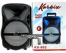 Parlante cabina estilo maleta de 8 bluetooth tws kx 802 con micrófono