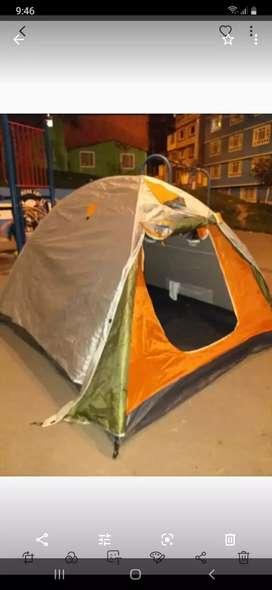Camping para 5a6 personas con sobrecarpa