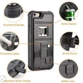 Multifunction Cigarette Lighter, Bottle Opener, Tripod Mount, Shockproof Cover