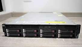 Servidor Nas Hp P4300 G2 4 Cores 12 Ram 7 Discos Sas 450gb