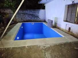 Realizo piletas .piscinas todo de material ..