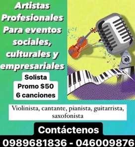 Cantante profesional para eventos