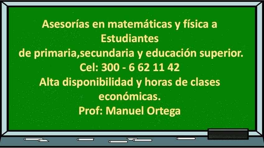 Asesorias en Matemáticas Y Física 0