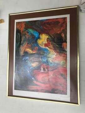 cuadro abstracto lamina