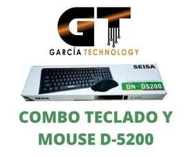 COMBO TECLADO Y MOUSE D-5200