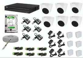 kit de 6 camaras de seguridad dahua 1080p 2mp full hd 2 megapixeles Distribuidor autorizado