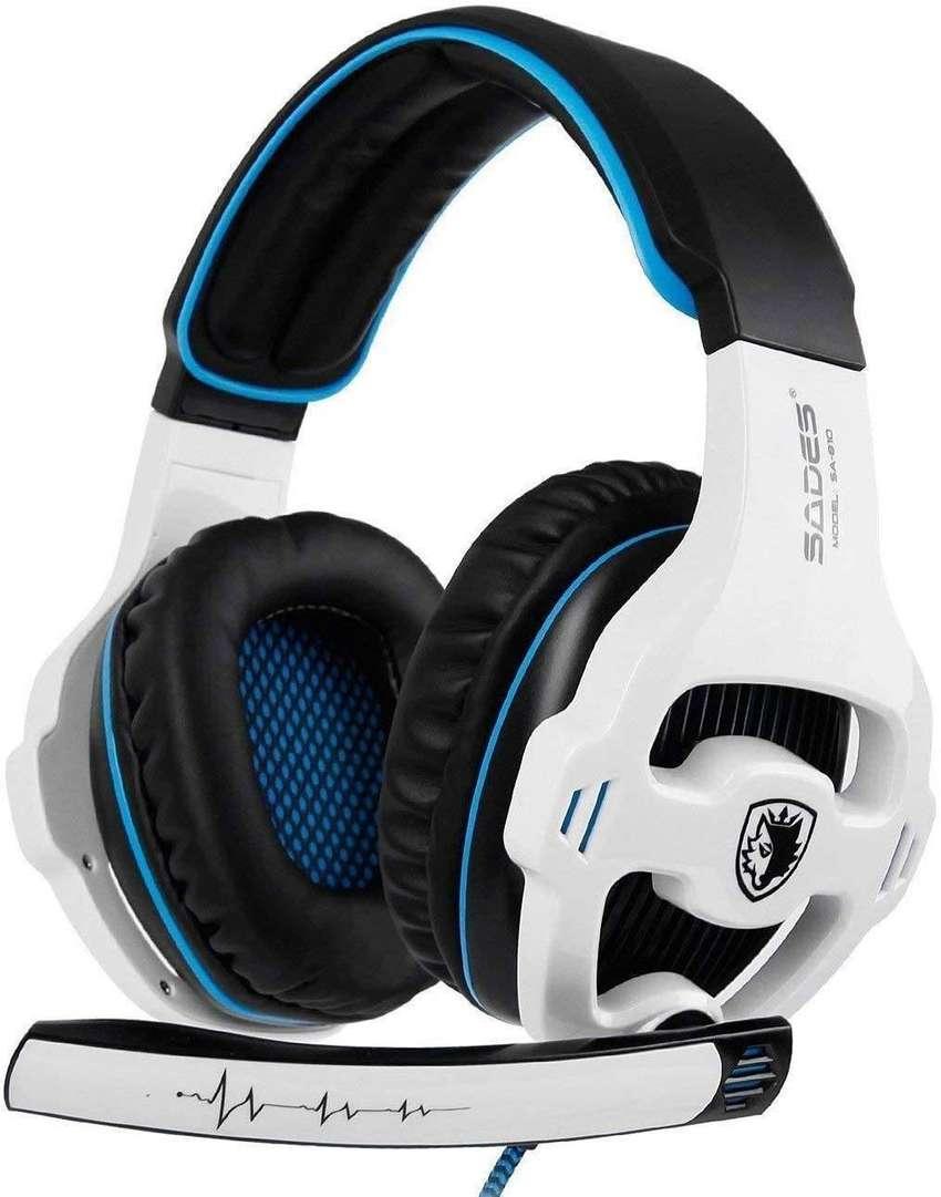 Auriculares de diadema para juegos (control de volumen, cancelación de ruido, para Xbox One/PC/Mac/PS4/Nintendo),