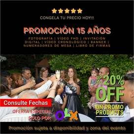 FOTO y VIDEO PARA BODAS/15 AÑOS/ANIVERSARIOS/EVENTOS EN GENERAL.