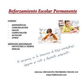 REFUERZO ESCOLAR - PRIMARIA  PROFESOR PARTICULAR PIURA