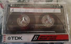 Cassette TDK B 60 Único Uso Caja Y Caratula Original