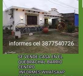 VENDO CASA CENTRICA EN EL QUEBRACHAL-ANTA-SALTA