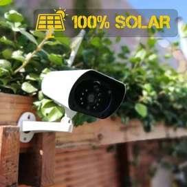 Cámara de seguridad solar inalámbrica para exteriores, el campo, jardines, postes