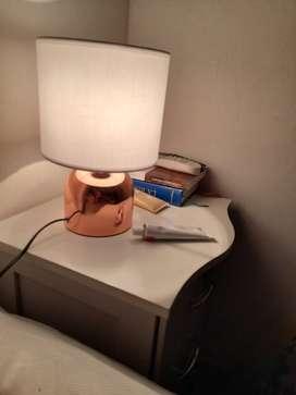 Par de lamparas de mesa de bronce