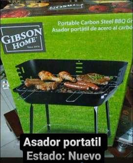 VENTA DE ASADOR PORTATIL DE ACERO GIBSON