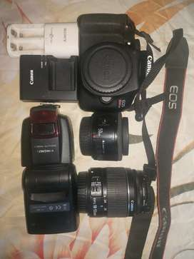 CANON T6 + 50MM +18-55MM+ FLASH