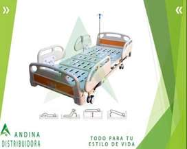 Cama Hospitalaria Electrica y Manual, Altura Regulable, 4 Posicion
