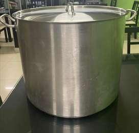 Olla de acero inoxidable - 60 litros con tapa