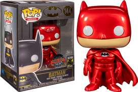 Funko Pop Batman Rojo Metalico efecto exclusivo por los 80 años de batman