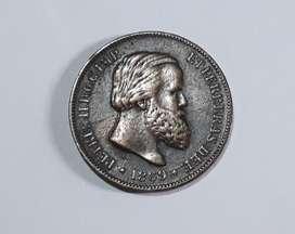 Moneda del Imperio de Brasil, 10 reis de 1869