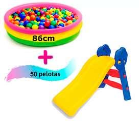 Rodadero o deslizadero picina inflable pelotas surtidos