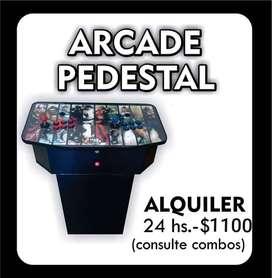 ARCADE PEDESTAL 4 MIL JUEGOS monitor incluido